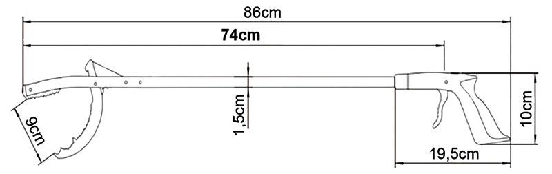 Hvataljka od anodiziranog aluminija - 55cm