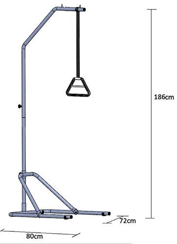 Samostojeći trapez sa max. opterećenjem 75 kg