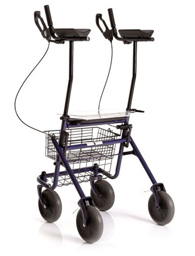 Sklopivi rolator Era s 4 kotača i potporom za podlaktice