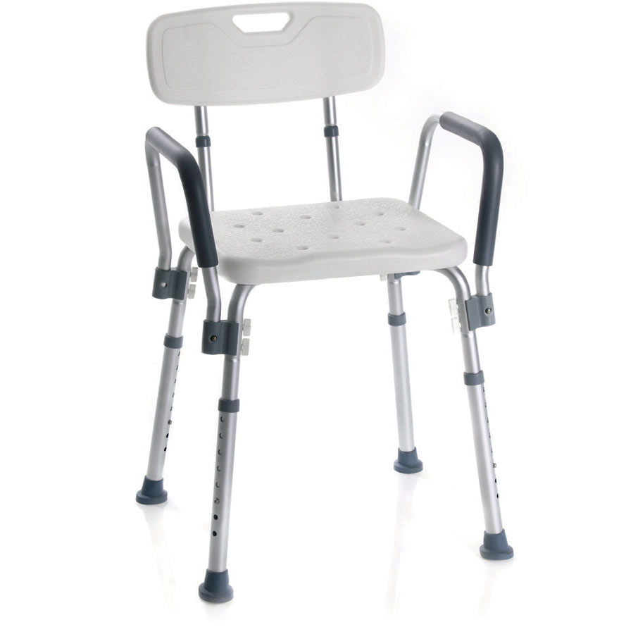 Podesivi stolac za tuširanje sa naslonom za ruke