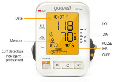 Automatski tlakomjer na nadlakticu sa alarmom za aritmiju