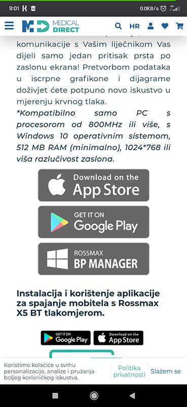 Aplikacija za spajanje traka